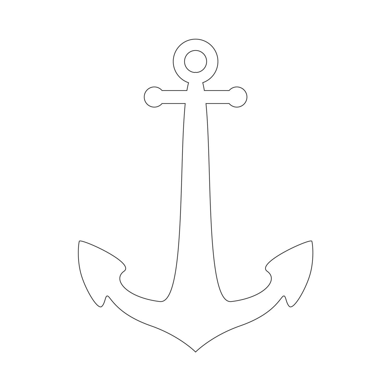 Anchor Stencil | Free Printable Stencil Templates | 图案 - Free Printable Anchor Template