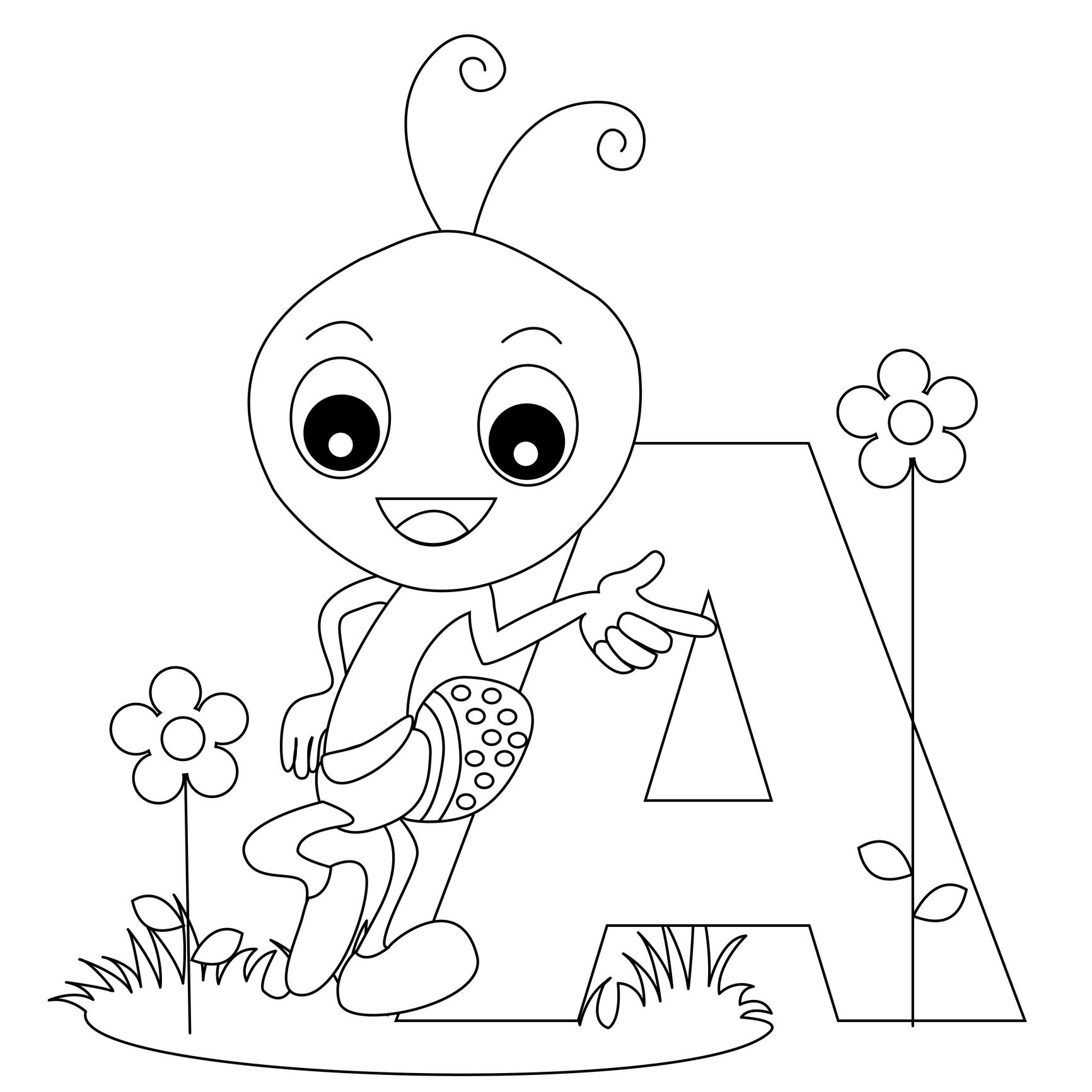 Animal Alphabet Letter A Is For Ant! Here's A Simple | School - Free Printable Animal Alphabet Letters