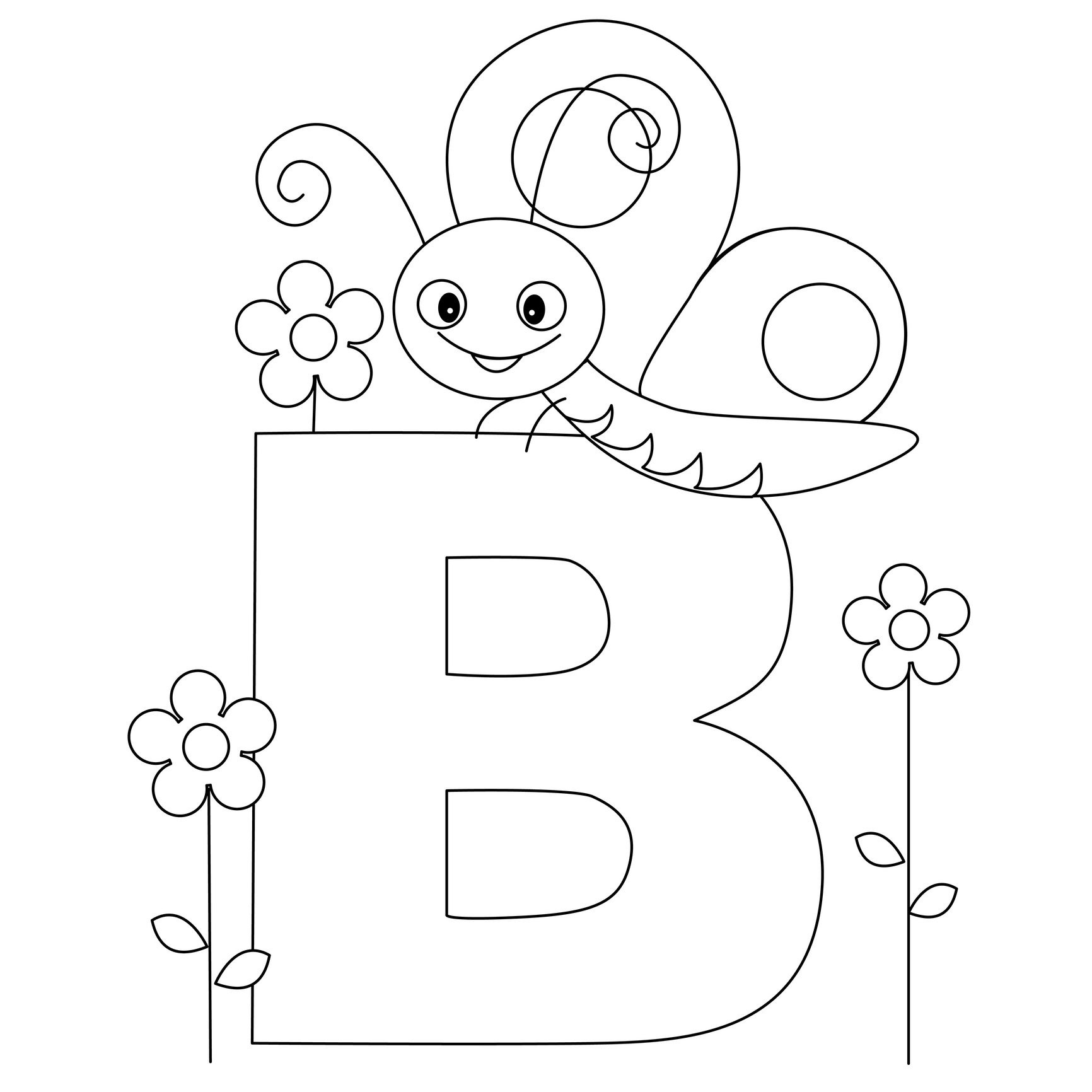 Animal Alphabet Letter B Is For Butterfly! Here's A Simple | Bugs - Free Printable Animal Alphabet Letters