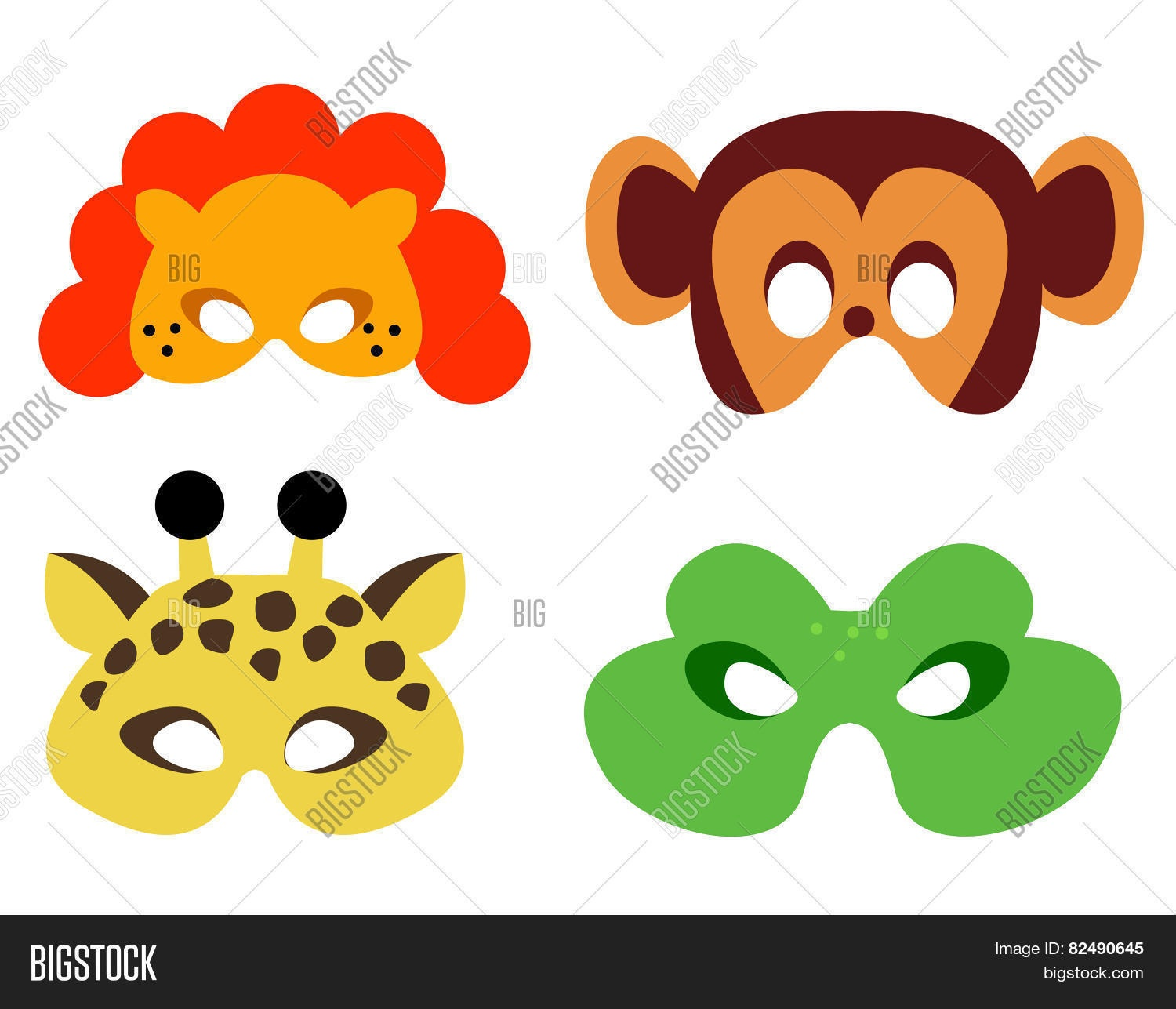 Animal Mask Printable Image & Photo (Free Trial) | Bigstock - Free Printable Lion Mask