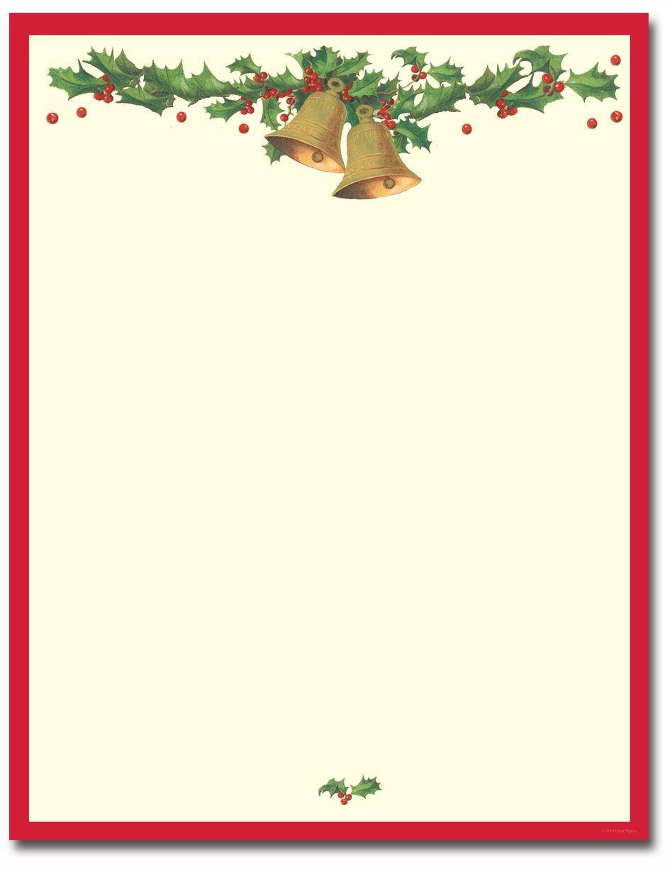 Antique Bells Letterhead | Classroom Fun | Christmas Letterhead - Free Printable Christmas Letterhead