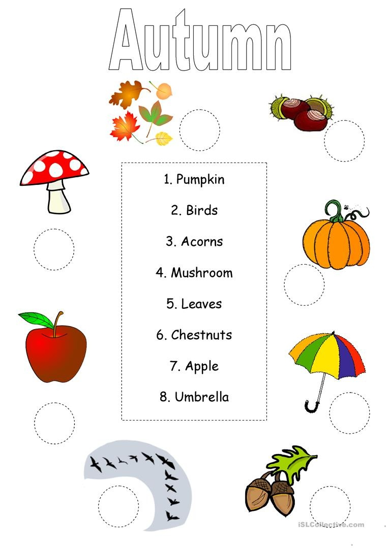 Autumn/fall Worksheet Worksheet - Free Esl Printable Worksheets Made - Free Printable Autumn Worksheets