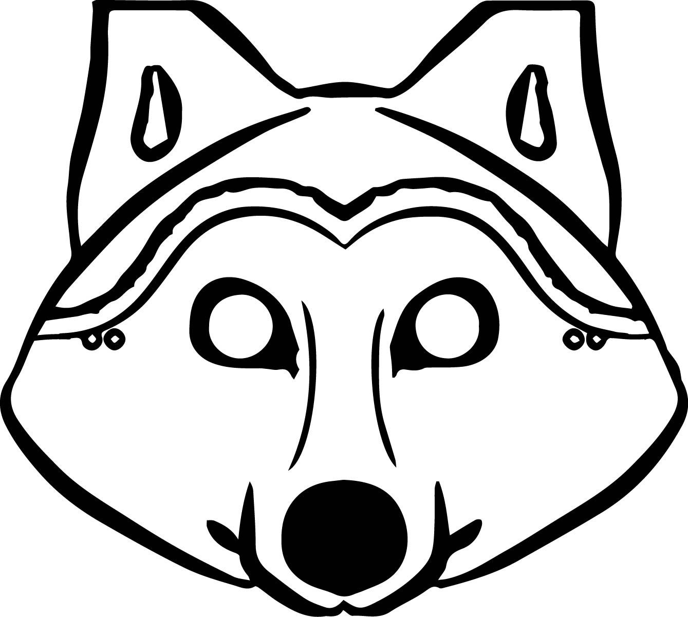 Awesome 3 Pigs Wolf Mask Coloring Pages | Wecoloringpage | Wolf Mask - Free Printable Wolf Mask