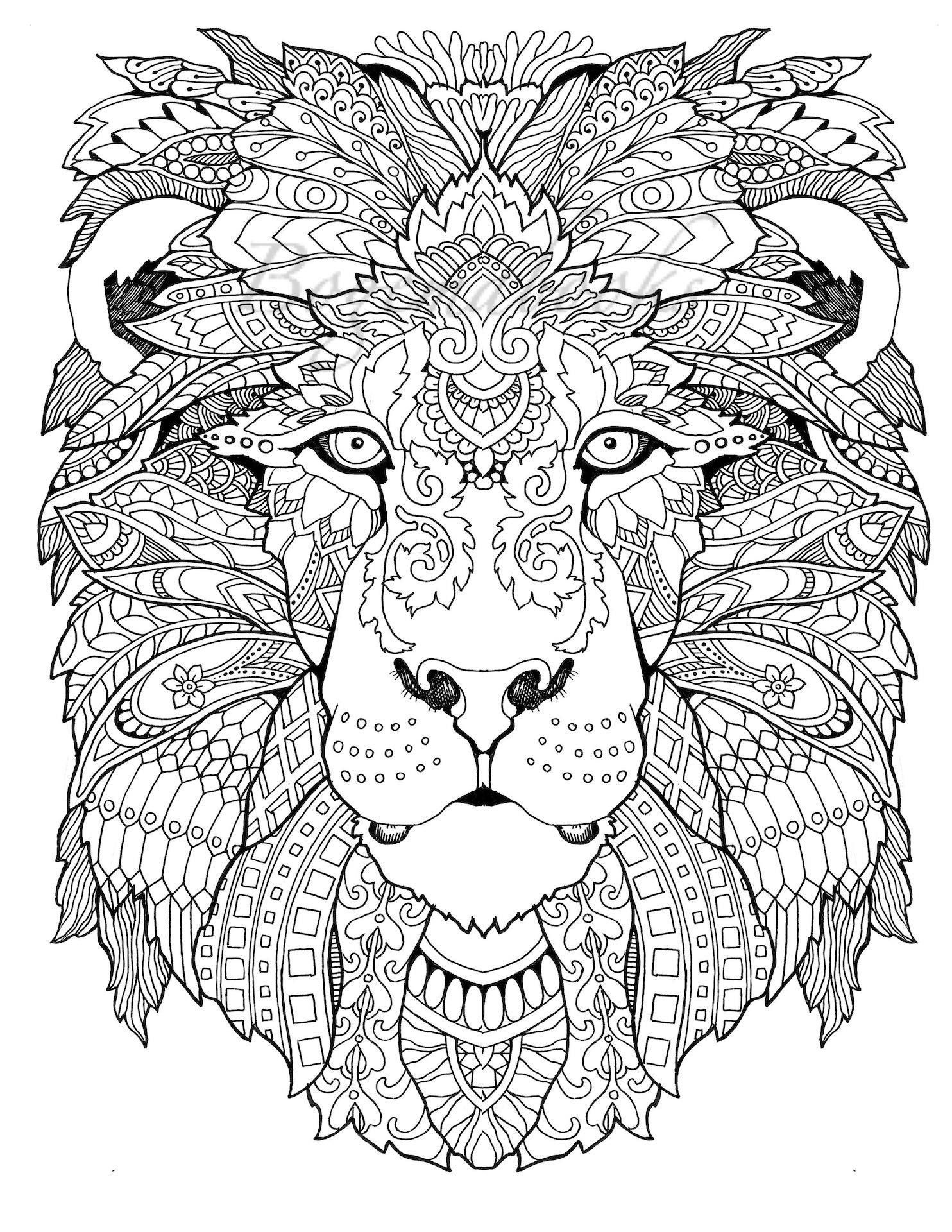 Awesome Animals (Adult Coloring Pages, Coloring Pages Printable - Free Printable Coloring Pages For Adults Pdf