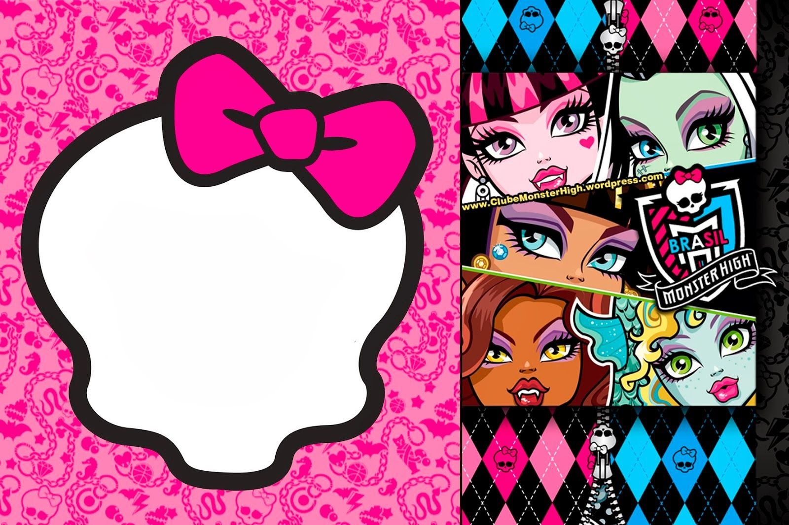 Awesome Free Printable Monster High Birthday Invitations Layout - Free Printable Monster High Stickers