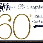 Awesome Of 60Th Birthday Party Invitations Free Templates Invitation   Free Printable Surprise 60Th Birthday Invitations