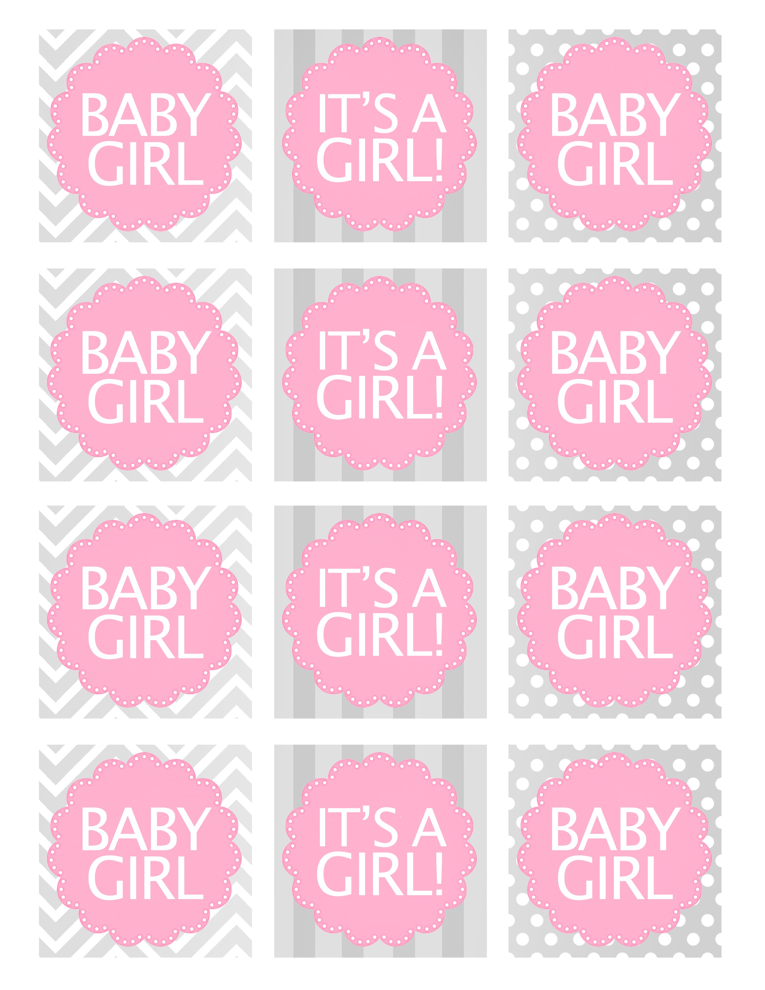 Baby Girl Shower Free Printables - How To Nest For Less™ - Baby Girl Banner Free Printable