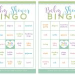 Baby Shower Bingo   A Classic Baby Shower Game That's Super Easy To Plan   Printable Baby Shower Bingo Games Free