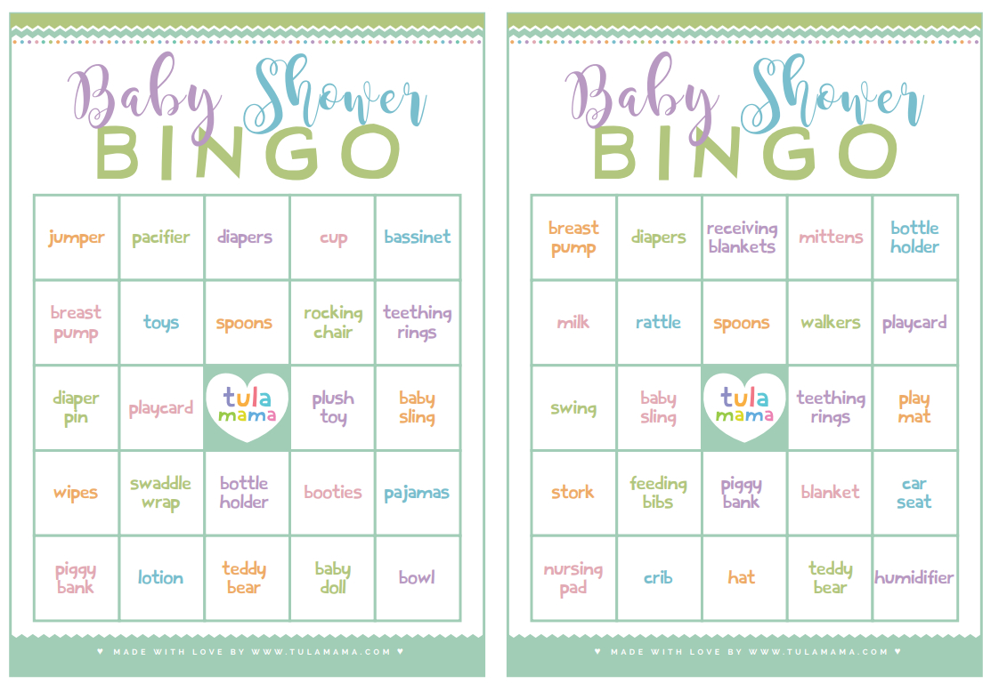 Baby Shower Bingo - A Classic Baby Shower Game That's Super Easy To Plan - Printable Baby Shower Bingo Games Free