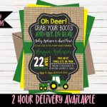 Baby Shower Invitation John Deere Babyshower Invitation | Etsy   Free Printable John Deere Baby Shower Invitations