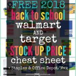 Back To School Sales - Free Printable Coupons For School Supplies At Walmart