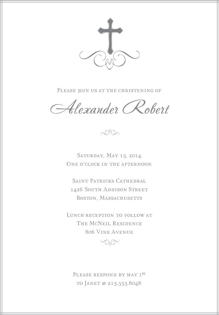 Baptism Invitations Templates Free Download | Daughter & Son - Free Printable Personalized Baptism Invitations