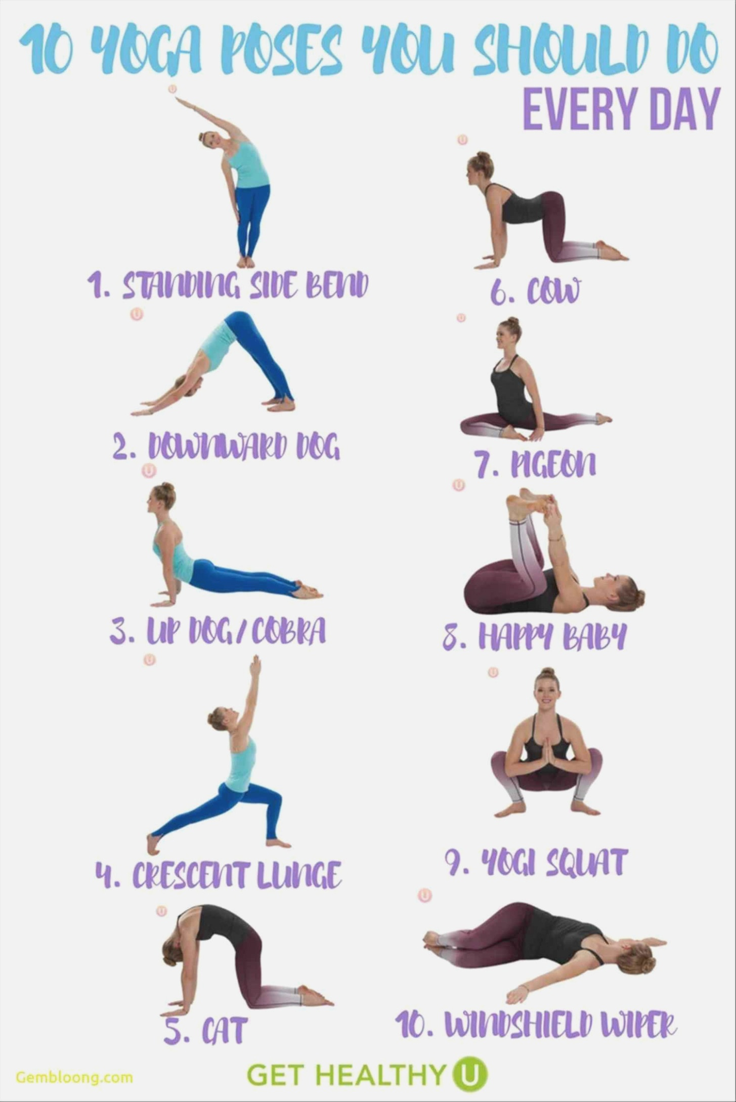 Basic Yoga Poses Printable Chart | Modern Life - Free Printable Yoga Poses