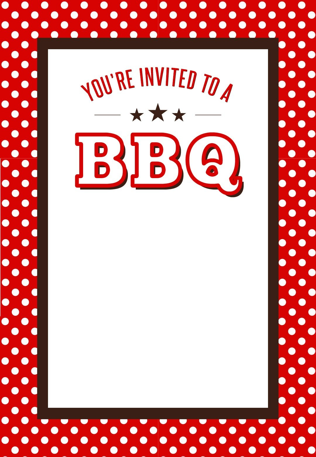 Bbq Party #invitation Free Printables | Bbq Party Ideas | Bbq, Bbq Party - Free Printable Cookout Invitations