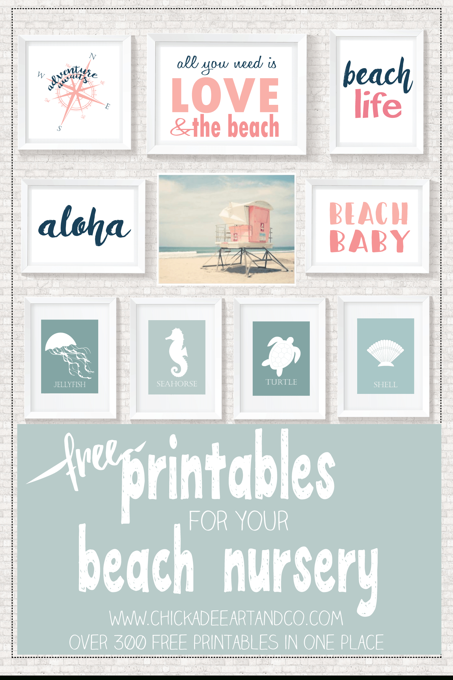 Beach Printables | Free Printables • Roundups! | Beach Bathrooms - Free Printable Beach Pictures