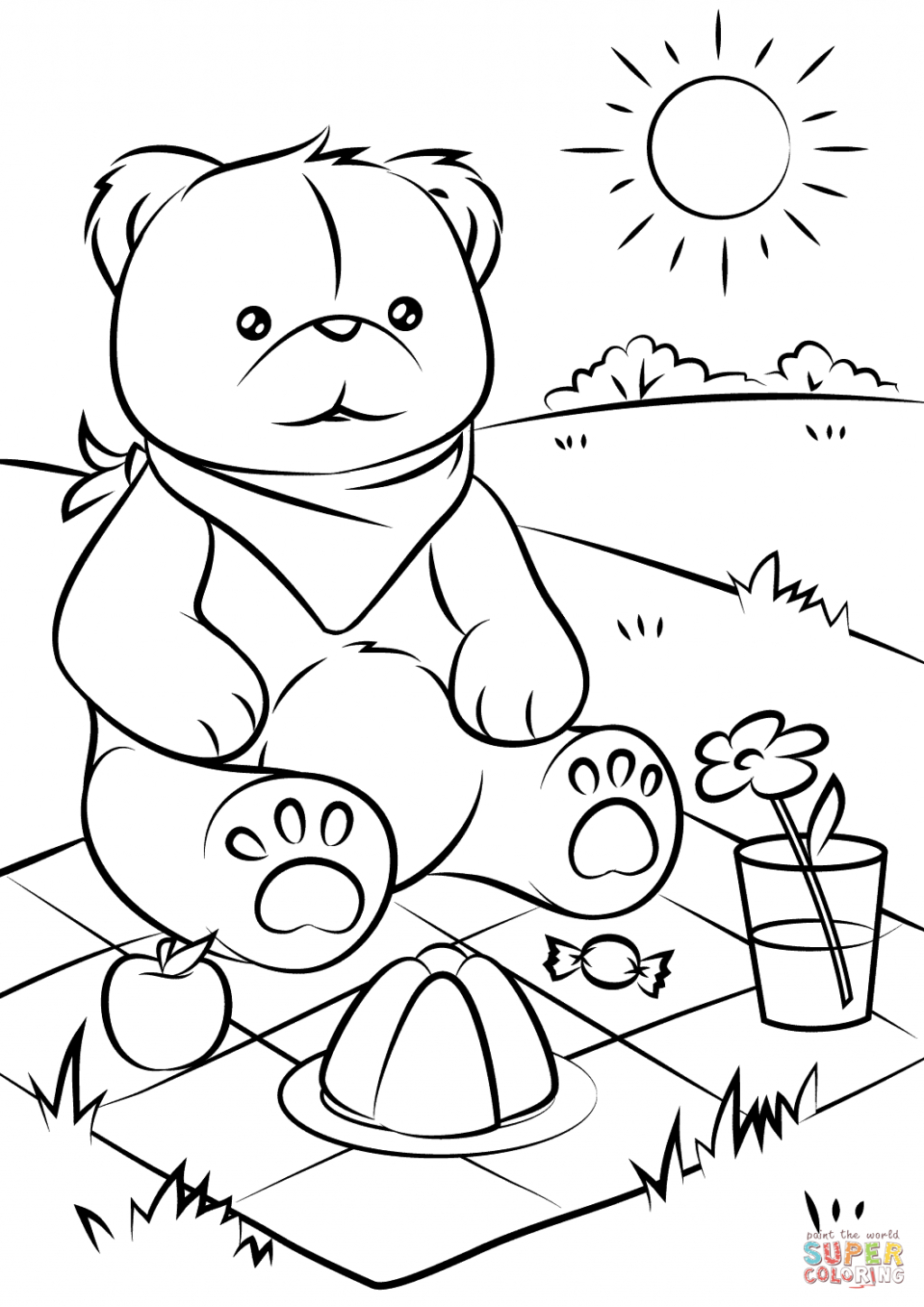 Bear Coloring Pages Coloring Pages Teddy Bear Coloring Sheet Adult - Teddy Bear Coloring Pages Free Printable