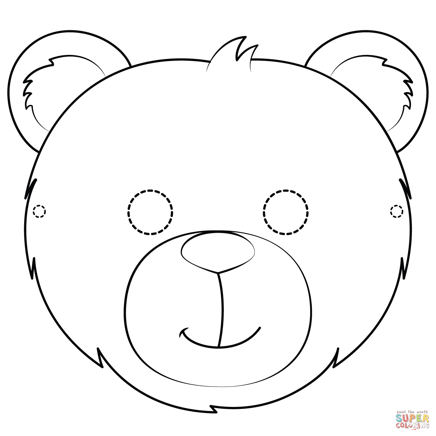 Bear Mask Coloring Page | Free Printable Coloring Pages - Free Printable Bear Mask