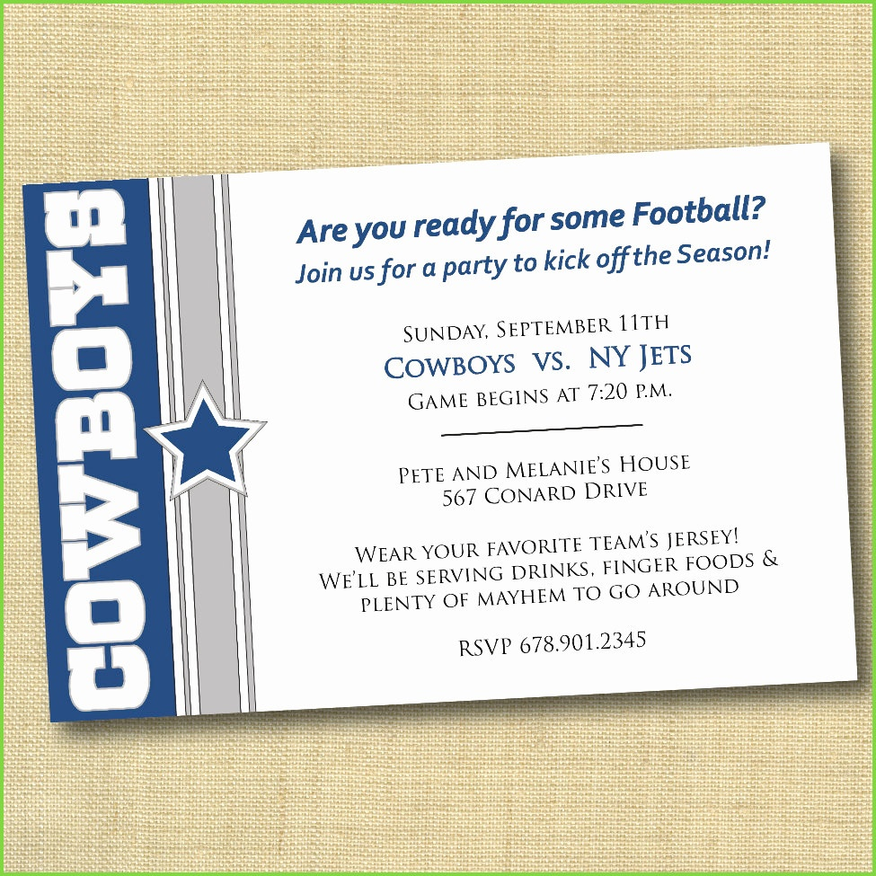 Beautiful Pics Of Dallas Cowboys Party Decorations | Starcash.co - Free Printable Dallas Cowboys Birthday Invitations