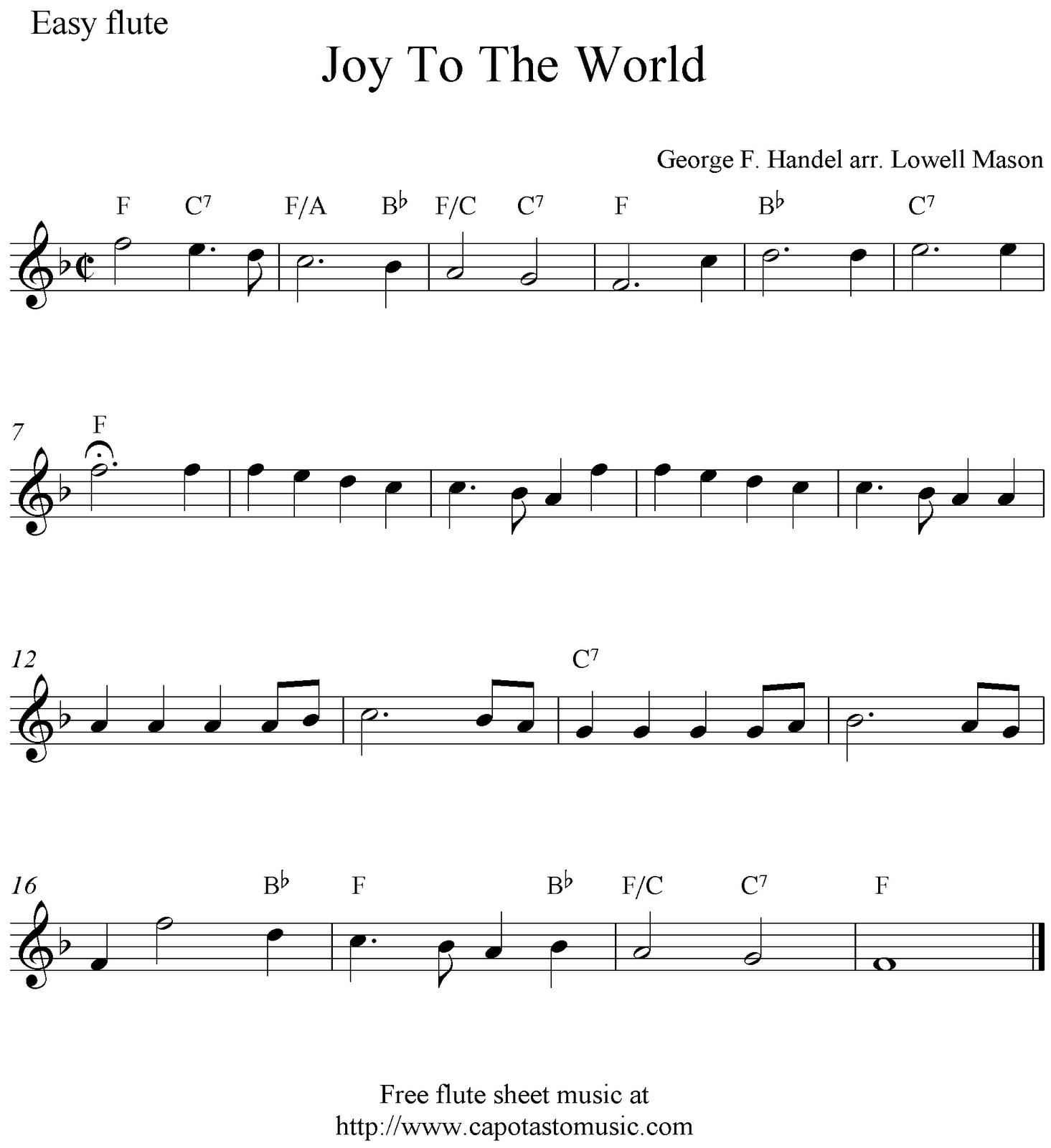 Beginner Flute Sheet Music Pdf - Free Printable Flute Sheet Music