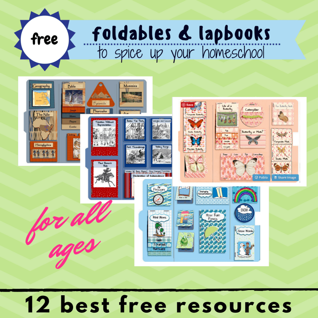 Best 12 Free Foldables & Lapbooks Printables For Homeschooling - Free Printable Lapbook Templates