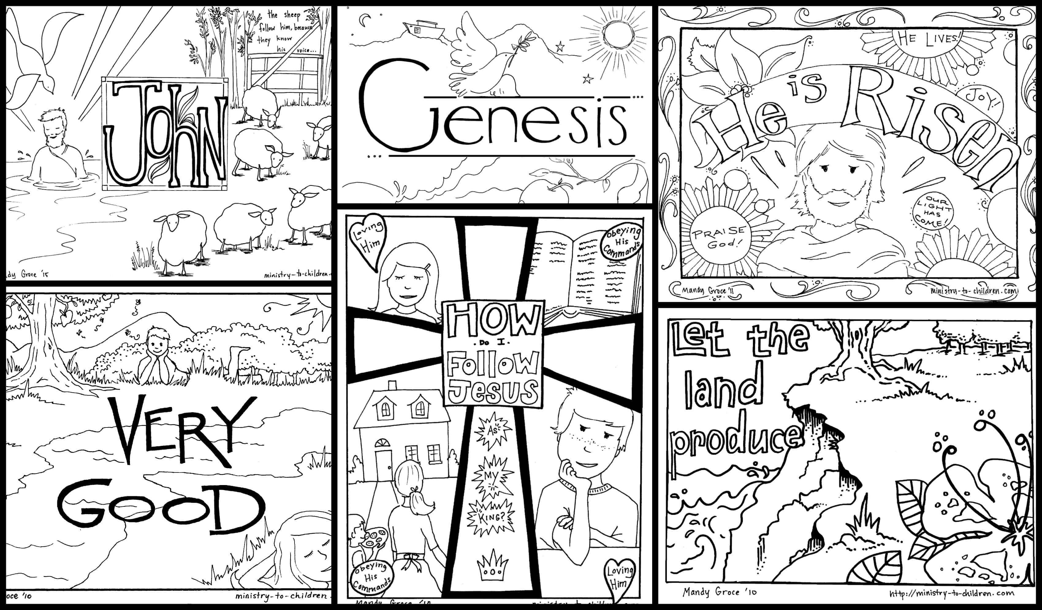Bible Coloring Pages For Kids [Free Printables] - Free Printable Children's Bible Lessons