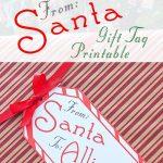 Big Free Printable Christmas Gift Tag   Press Print Party   Free Printable Customizable Gift Tags