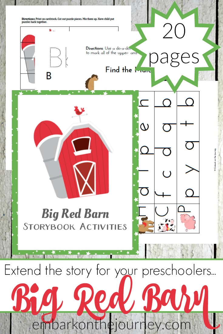Big Red Barn Activities And Printables For Prek And Kindergarten - Free Printable Story Books For Kindergarten