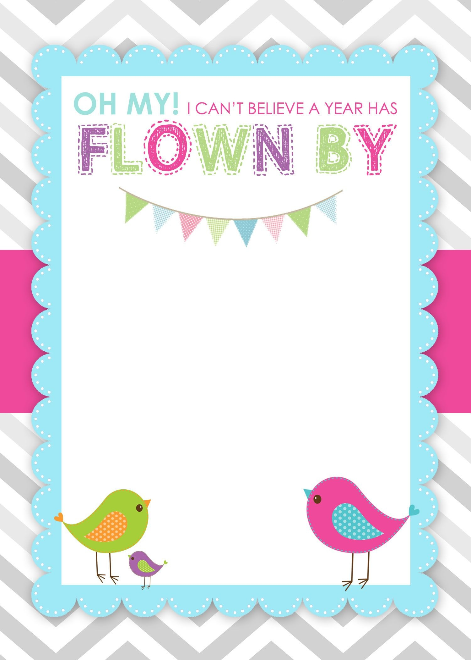 Bird Birthday Party With Free Printables | Creations | Free Birthday - Free Stork Party Invitations Printable