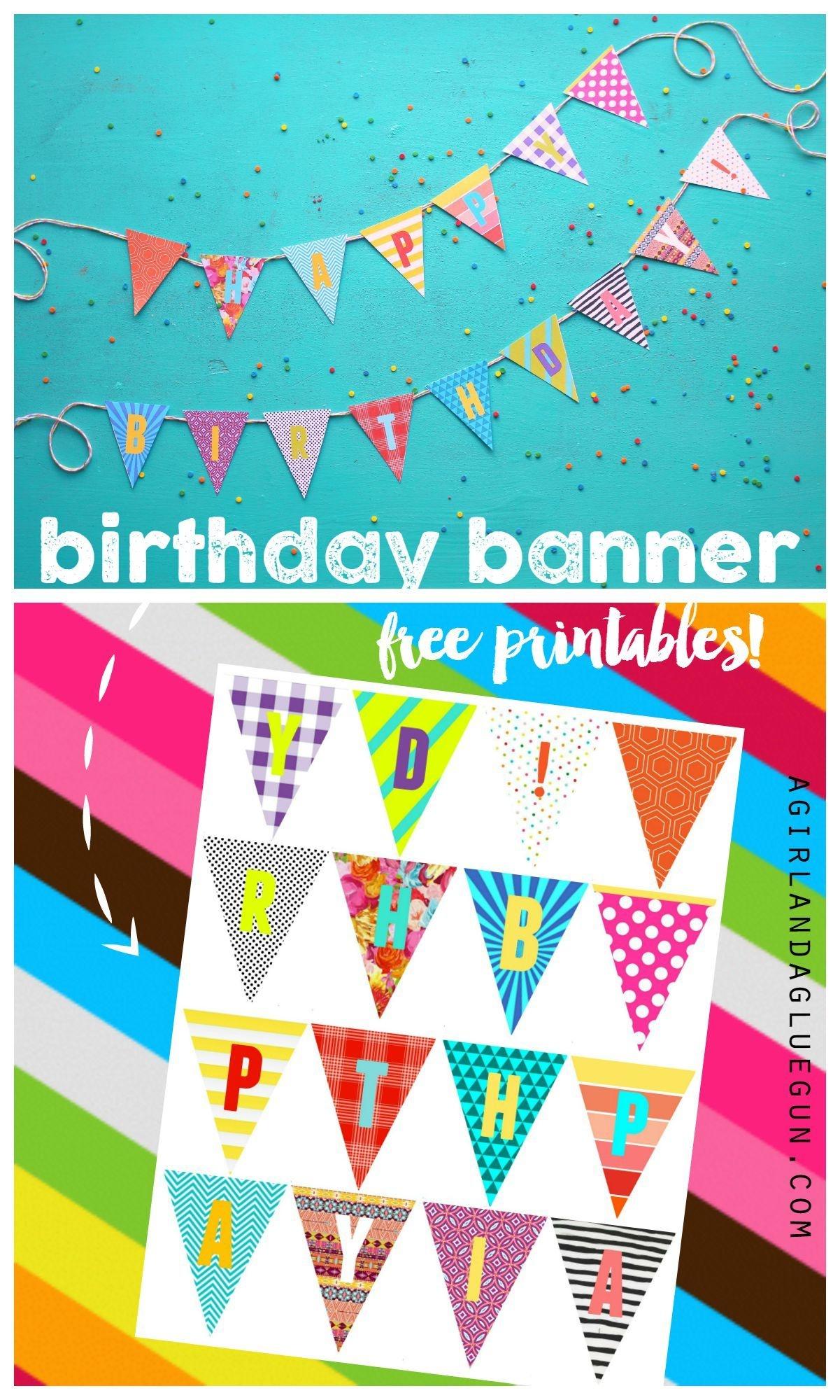 Birthday Banner Printables | Celebrate! | Diy Birthday Banner, Happy - Diy Birthday Banner Free Printable