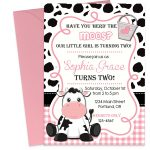 Birthday Invitation. Cow Birthday Party Invitations   Lindeymagee   Free Printable Cow Birthday Invitations