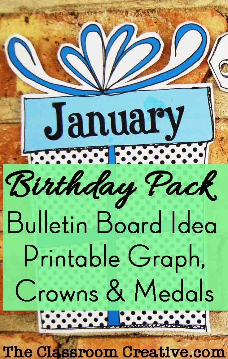 Birthday Pack: Bulletin Board Idea, Graph, Printable Crowns And Medals - Free Printable Birthday Graph
