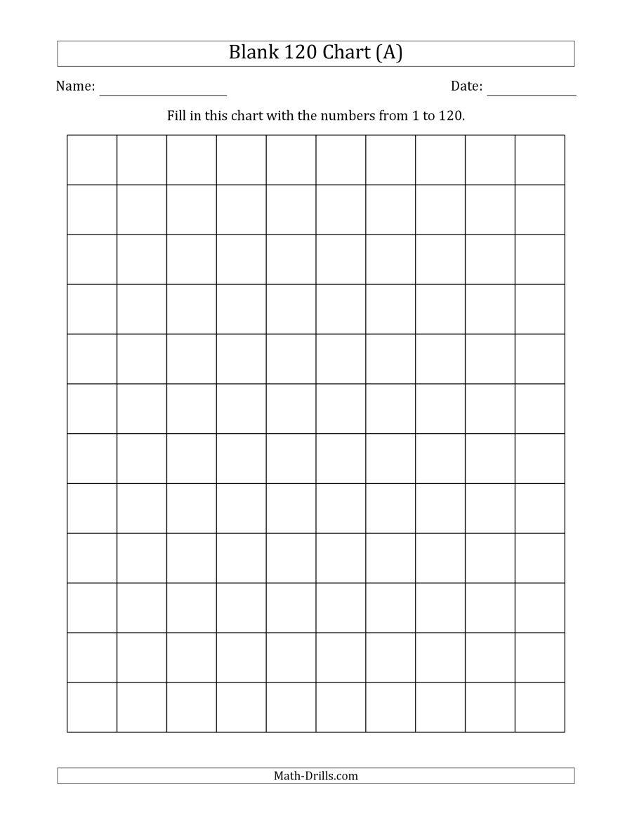 Blank 120 Chart - Free Printable Blank 1 120 Chart