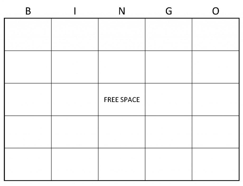 Blank Bingo Cards | Blank Bingo Card Template - Free Printable Blank Bingo Cards
