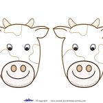 Blank Printable Cow Invitations   Coolest Free Printables   Cow   Free Printable Cow Birthday Invitations