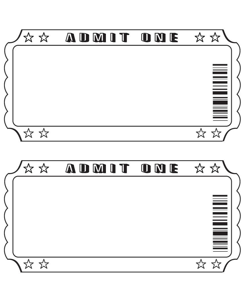 Blank Ticket More | Projects To Try | Ticket Template, Ticket - Free Printable Tickets
