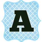 Blue And Black Printable Letters For Banners   Banners   Bandera   Diy Swank Free Printable Letters