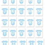 Blue Baby Onesie Shaped Banner Letters Download From Printabletreats   Free Printable Baby Shower Banner Letters