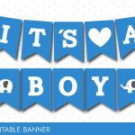 Blue Baby Shower Banner With Letters And Numbers, Elephant Printable   Free Printable Baby Shower Banner Letters