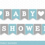 Blue Banner, Grey Banner, Oh Baby Banner, Oh Boy Banner, Printable   Free Printable Baby Shower Banner Letters