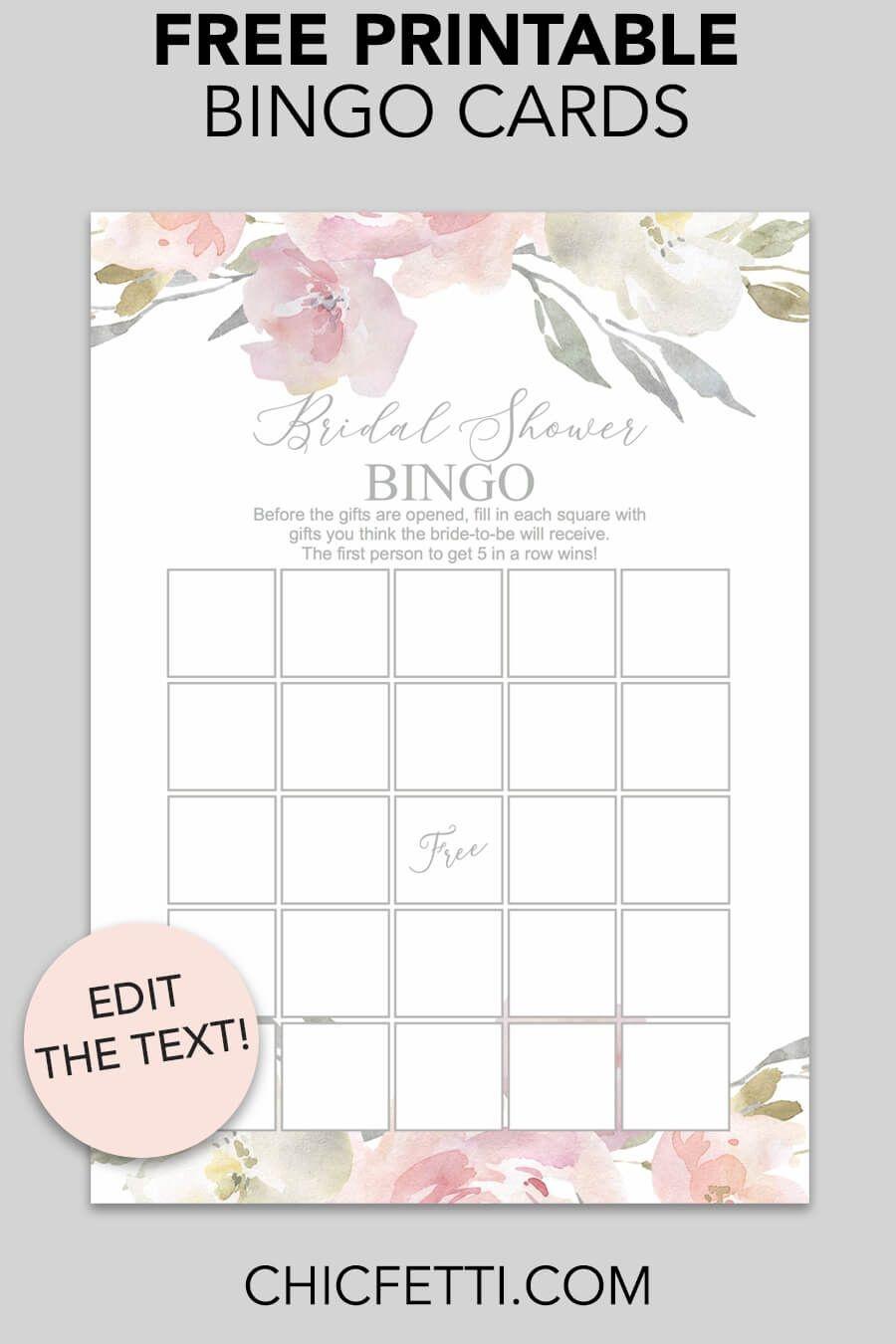 Blush Floral Printable Bridal Shower Bingo | Free Printables - Free Printable Bridal Shower Cards