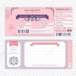 Boarding Pass Ticket Wedding Invitation Template Royalty Free   Free Printable Boarding Pass