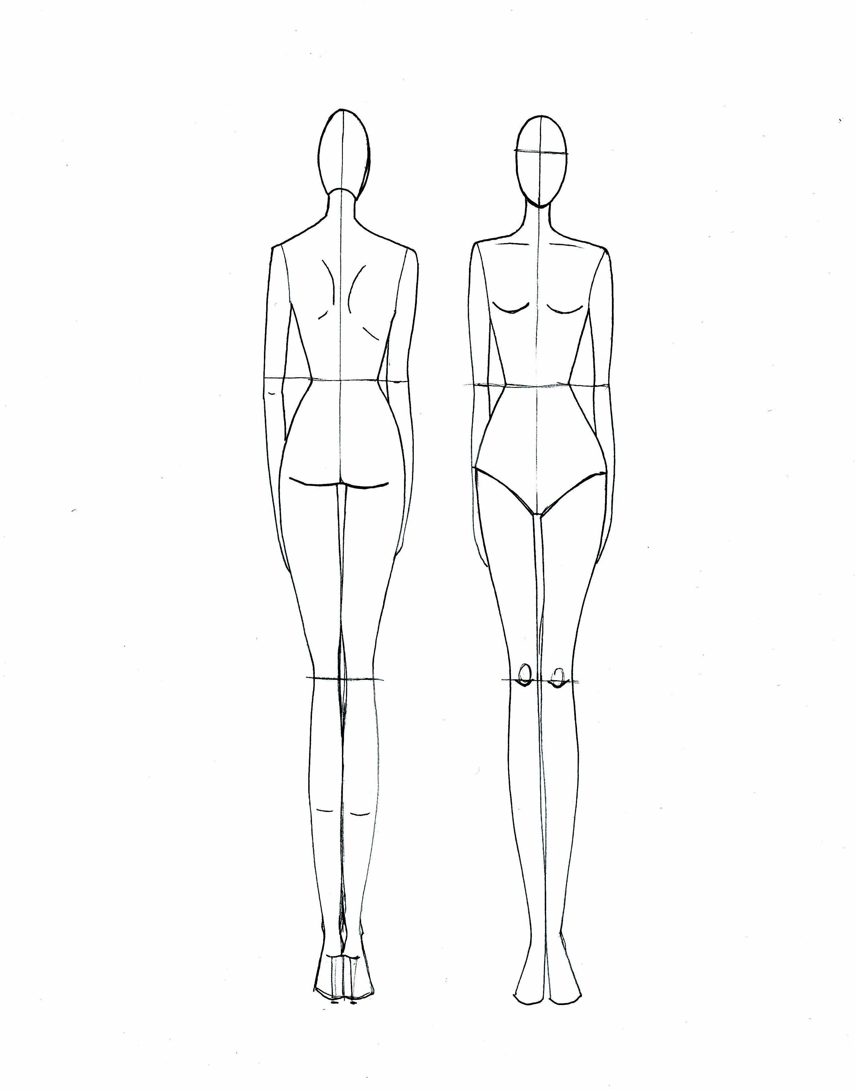 Body Sketch Template At Paintingvalley | Explore Collection Of - Free Printable Fashion Model Templates