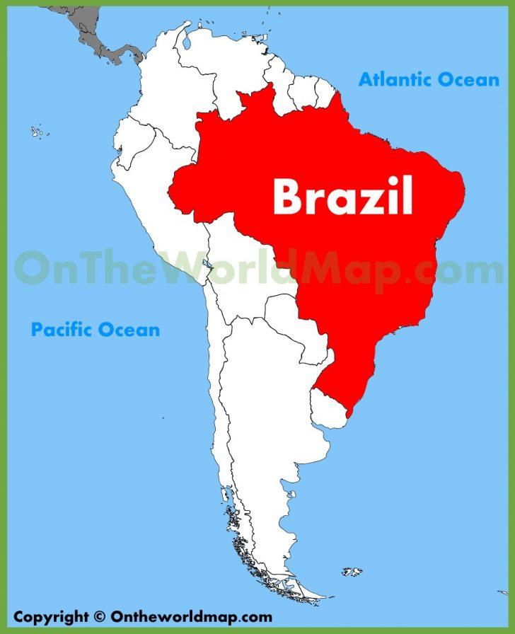 Free Printable Map Of Brazil