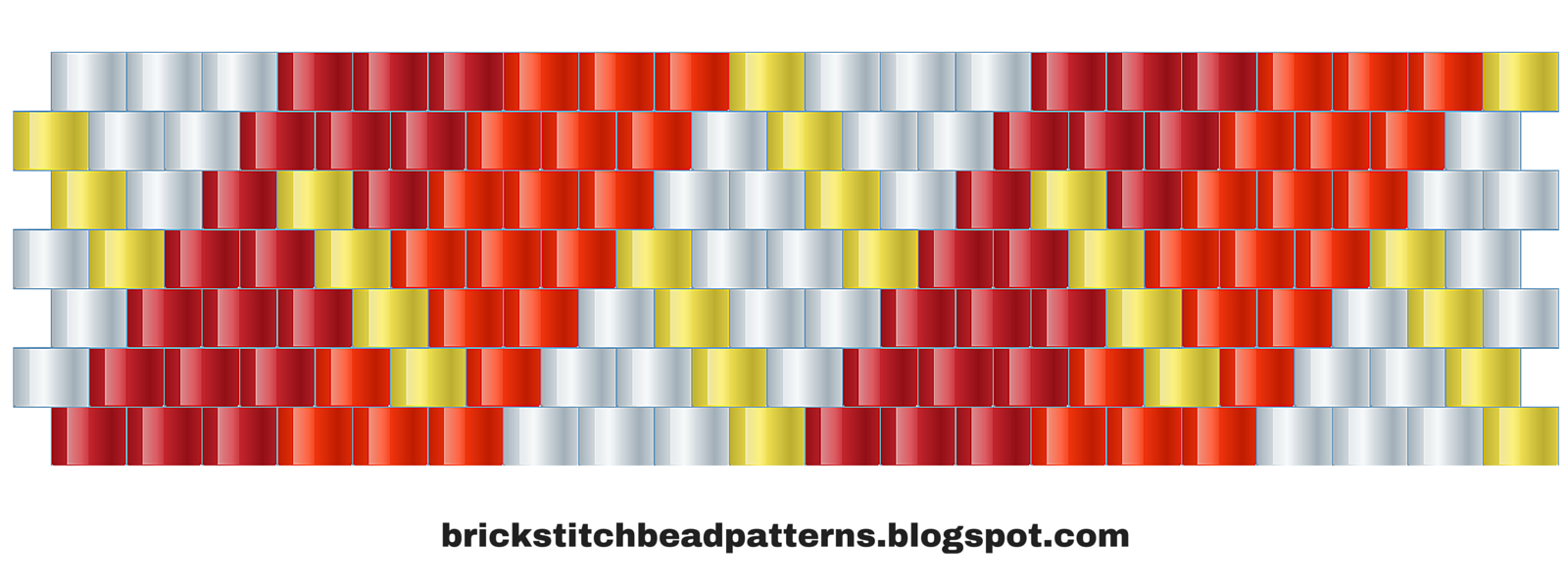 Brick Stitch Bead Patterns Journal: #10 Free Brick Stitch Pony Bead - Pony Bead Patterns Free Printable
