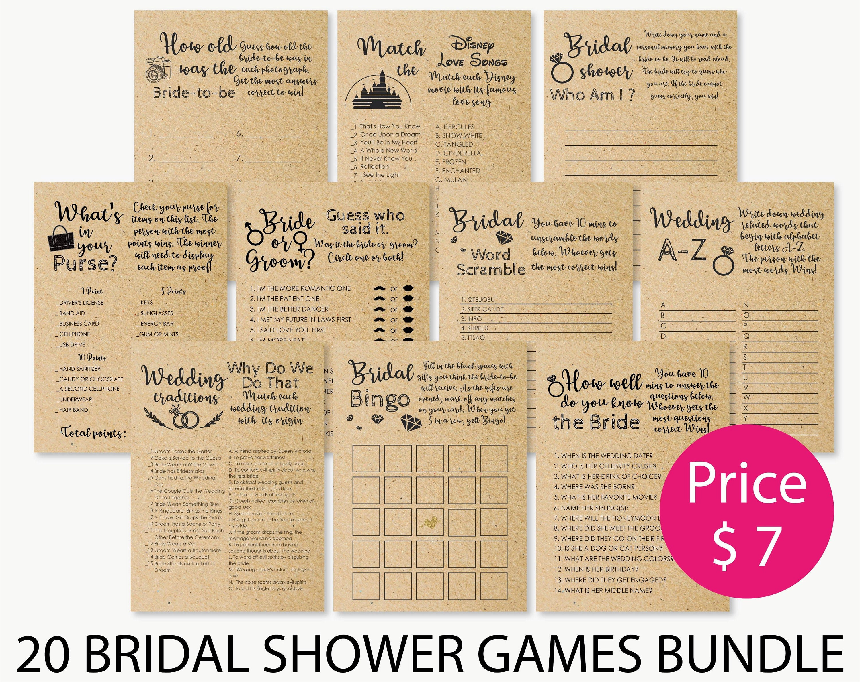 Bride Or Groom Game Bridal Shower Game . Bridal Shower Games | Etsy - How Well Does The Bride Know The Groom Free Printable