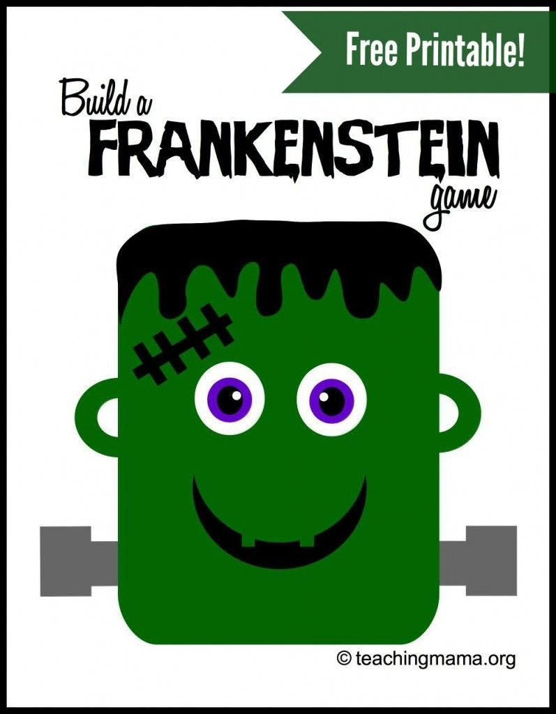 Build A Frankenstein Game | Teaching Mama's Posts | Fun Halloween - Roll A Monster Free Printable