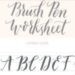 Calligraphy Practice Sheets Printable Free Modern Calligraphy   Modern Calligraphy Practice Sheets Printable Free