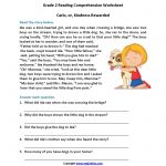 Carlo Or Kindness Rewarded Second Grade Reading Worksheets | Reading   Free Printable Comprehension Worksheets For Grade 5