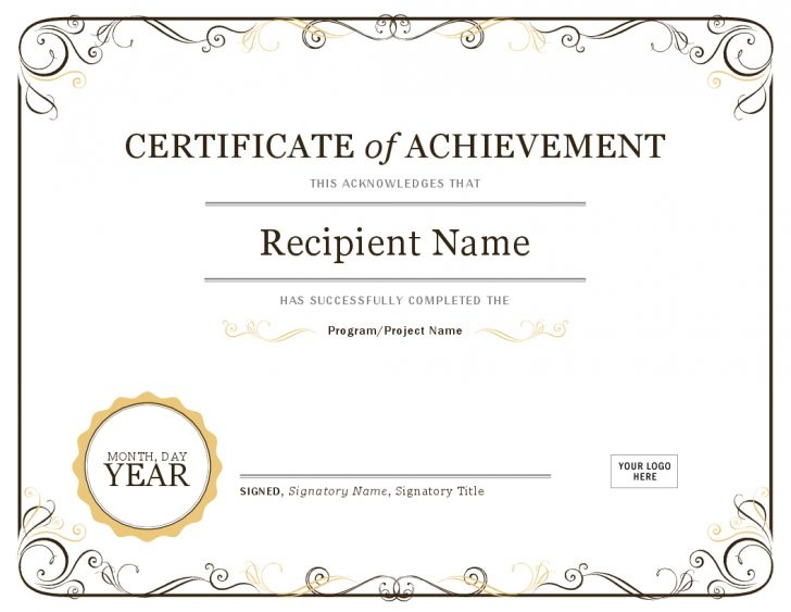Free Printable Blank Certificates Of Achievement