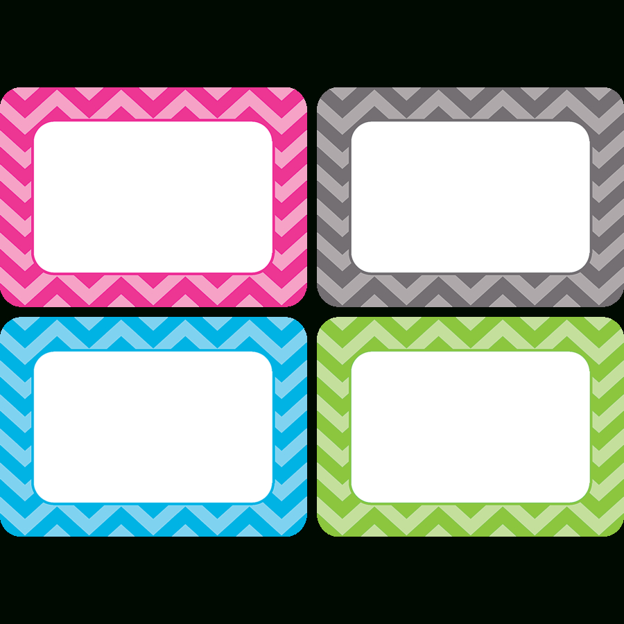 Chevron Name Tags/labels - Multi-Pack - Tcr5526 | Teacher Created - Free Printable Name Tags For Teachers